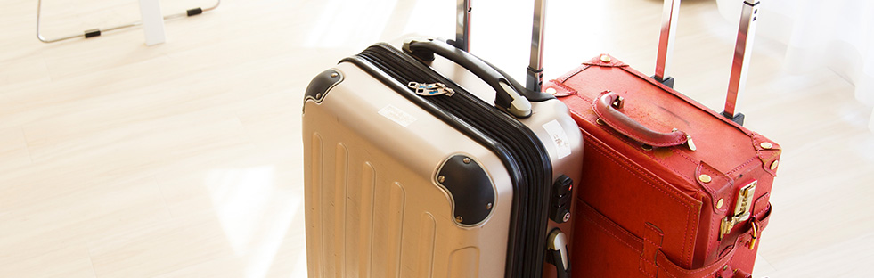Pick up your luggage from your accommodation